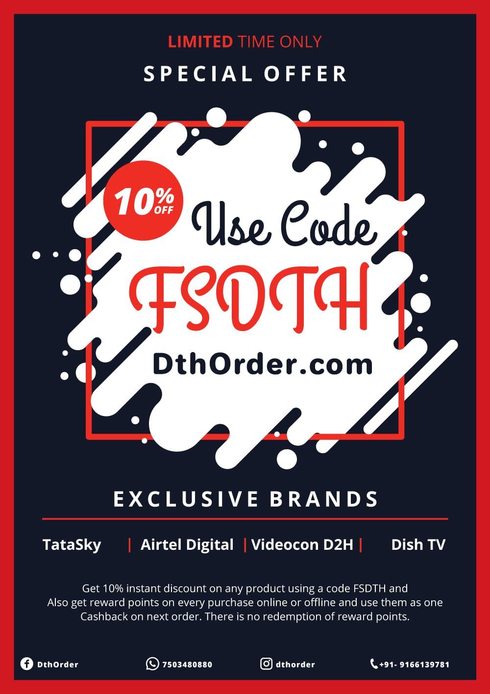 Discount Banner Dth Order